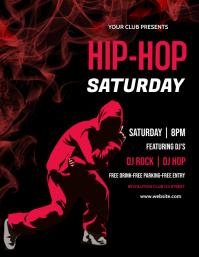 Music,Bar, happy hour,hip hop,dance Folheto (US Letter) template