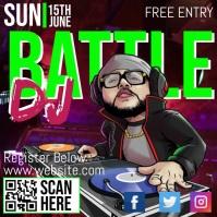 Music & DJ Battle Square (1:1) template