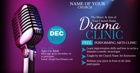 Music & Arts Drama Clinic Imagen Compartida en Facebook template