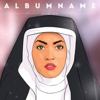 Music Album Cover Template beautiful portrait of a nun