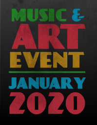 Music and Art Event Flyer