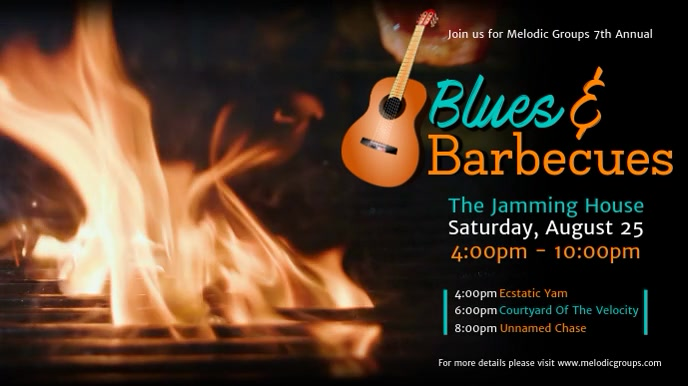Music and Barbecue Event Digital Display Video Template