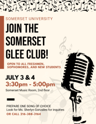 Music and Glee Club Recruitment Poster