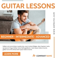 music and guitar lessons advertising instagra Instagram Post template