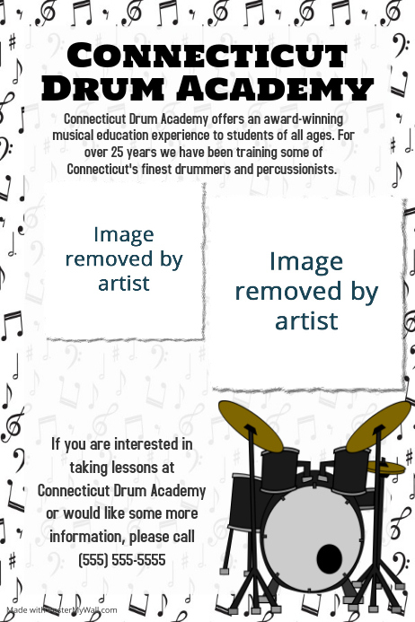 Music Band Concert Lessons Flyer Poster