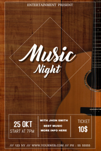 Music Band event flyer template