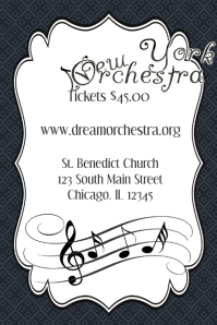 Music Band Orchestra Piano Concert Event Flyer Poster