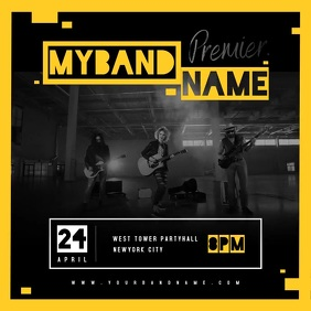 Music Band Party Video Template Instagram Plasing