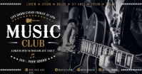 MUSIC BANNER Facebook Shared Image template