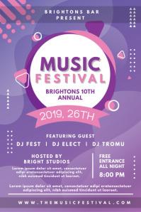 Music Bar Event Invitation Poster template
