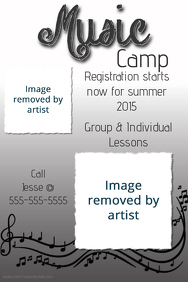 Music Camp Concert Flyer Template