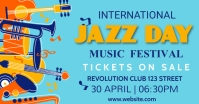 Music classes, music,jazz day Image partagée Facebook template