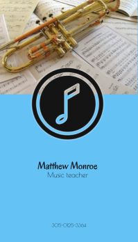Music classes Business Card template