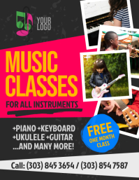 Music Classes Flyer