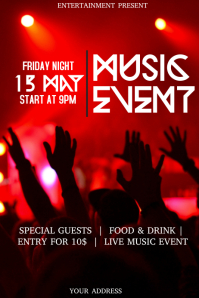 Music club event flyer template