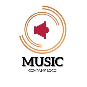 MUSIC COMPANY BUSINESS LOGO DESIGN Template Square (1:1)