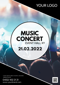 Music Concert Band Show Flyer Event Party A4 template