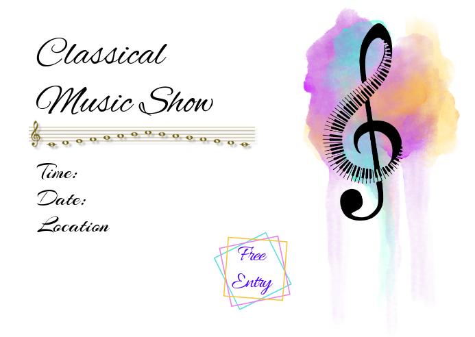 Music concert Postcard template