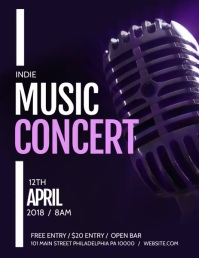 Music concert Pamflet (Letter AS) template