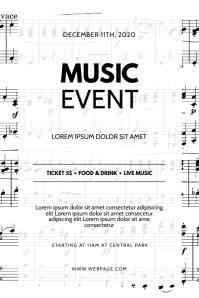 Music concert event flyer design template Poster