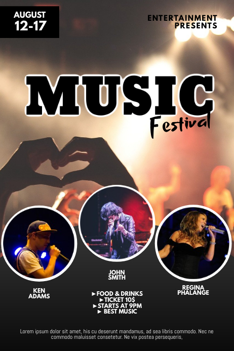 Music Concert Festival Flyer Template