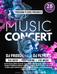 Music Concert Flyer Template Design