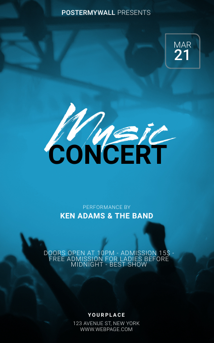Music Concert Flyer Template ปก Kindle