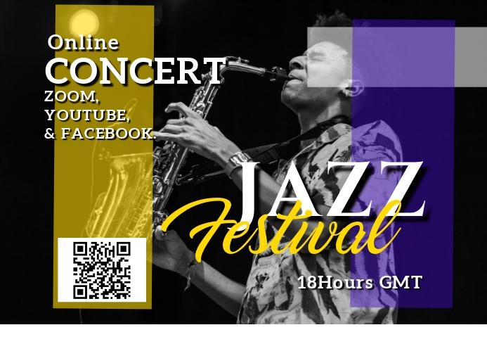 music concert online A3 template