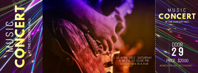 Music Concert Pass Template