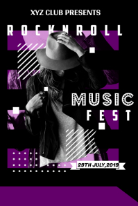 Music Concert Poster Template Design