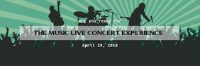 Music Concert Twitter Banner template Nagłówek na Twittera