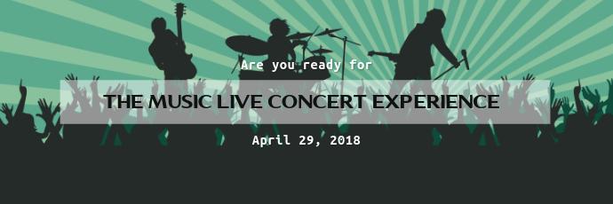 music concert twitter banner template postermywall