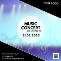 Music Concert Video Template Invitation Event