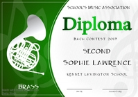 Music Contest Diploma