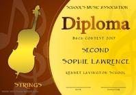 Music Contest Diploma