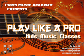 Music course poster