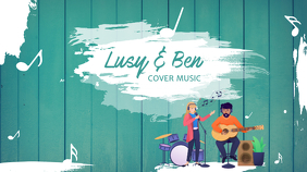 Music Cover Youtube Channel Art template