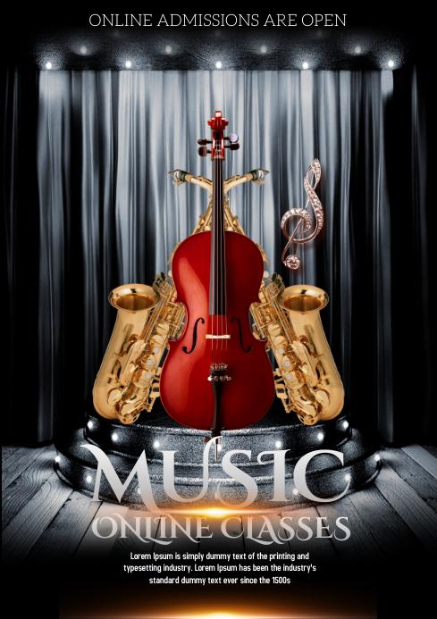 MUSIC A4 template