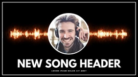 Music dj New Song Advertising facebook cover