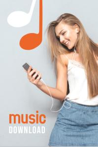 Music Download Templates Grafik Pinterest
