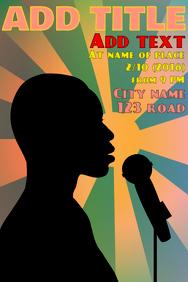 Music event, perfomance -artist singing in mi