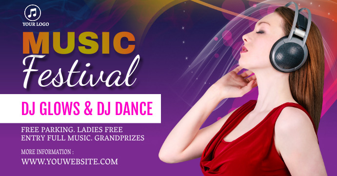 music event facebook cover post template