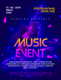Background for concert flyer