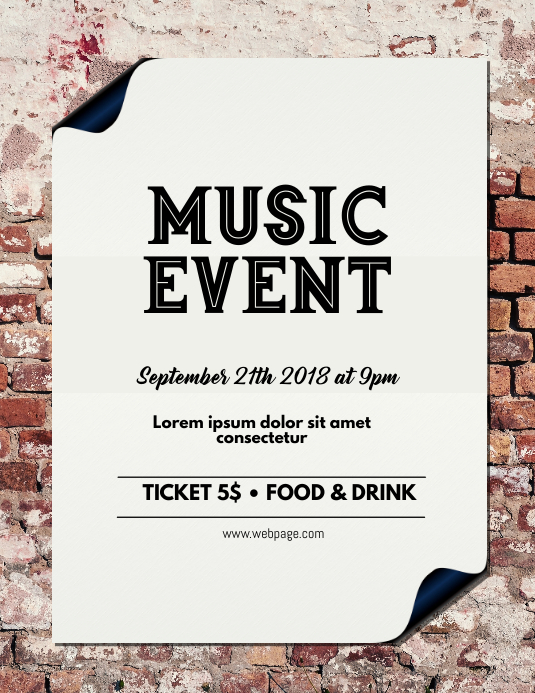 Music Event Flyer Template rustic