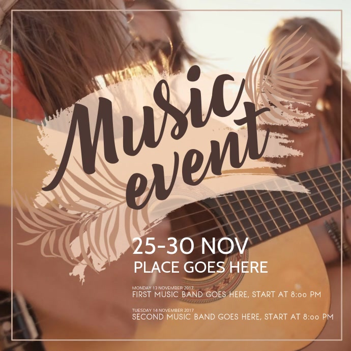 Music Event Instagram Video Template Instagram-bericht