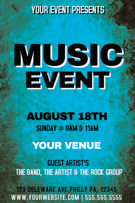 MUSIC EVENT template | PosterMyWall