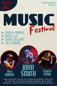 Music Event Flyer Template