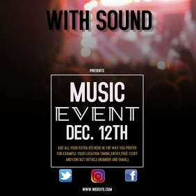 MUSIC EVENT VIDEO FLYER
