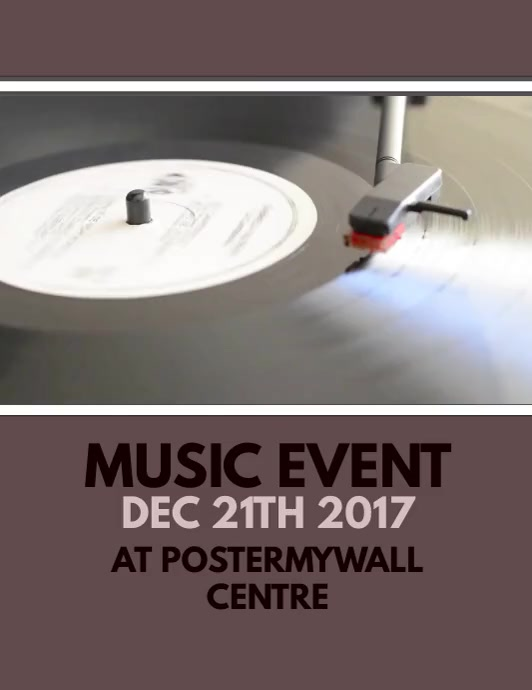 Music Event Video Flyer Template  Postermywall