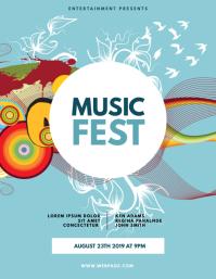 Music Fest flyer template